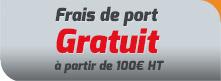 Frais de port Gratuit (à partir de 100€ HT)