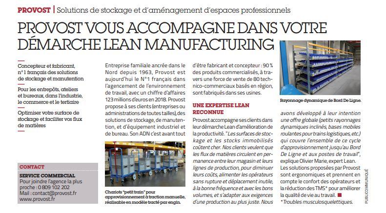 Provost Usine Nouvelle Lean Manufacturing