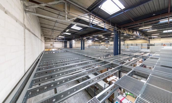 Installation plateforme mezzanine Proplus LP3