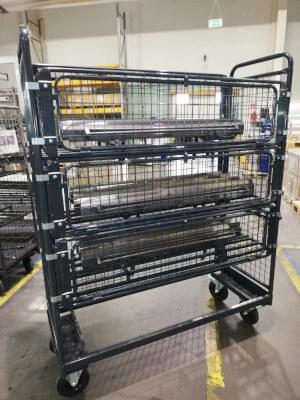 Chariot industriel pour racles