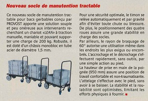 Socle roulant LEAN MANUFACTURING