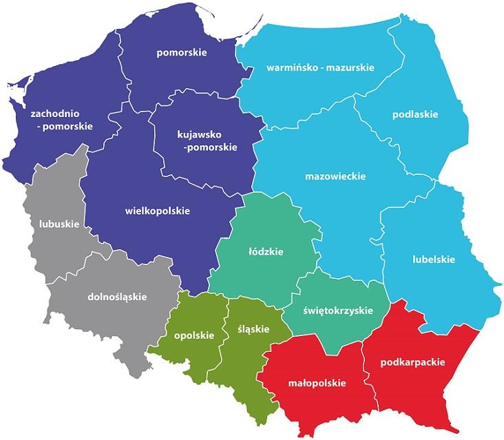 mapa Provost Polska