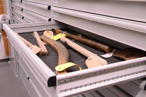 Armoires à tiroirs pièces de musées