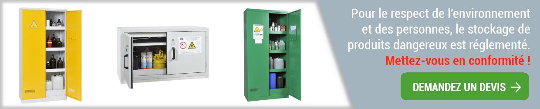 armoire de sécurité pour produits dangereux