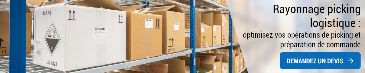 Rayonnage picking logistique