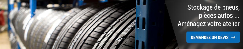 Stockage de pneus et pièces auto