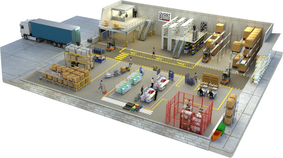 Schéma entrepôt de stockage