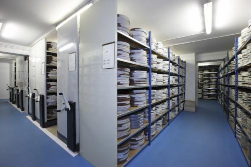 Stockage bobines, archives audiovisuelles